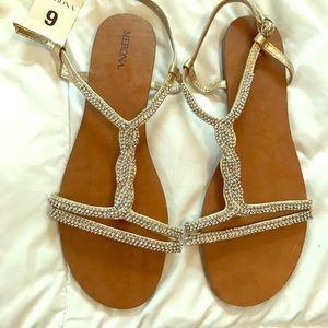 Merona flat sandals sparkly
